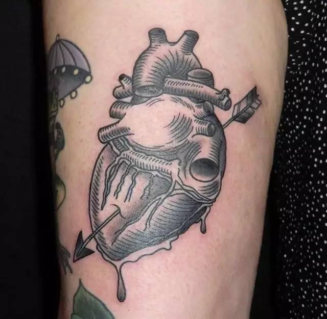 纹身师 | 纹身师duncan 暗黑风 oldschool黑灰纹身图片