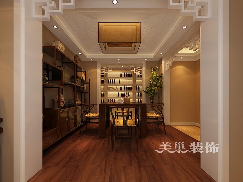 龙湾公馆复式379平装修效果图-欧式古典与佛堂设计