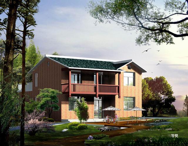 15万以内的农村别墅效果图 一层和两层的含预算