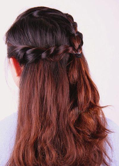 step5:经典的编扎发就ok啦,信任这样的发型既淑女又很靓丽呢.图片