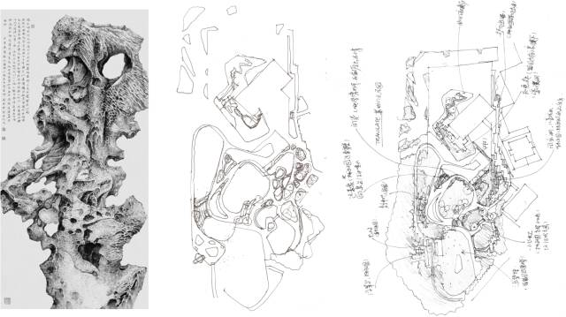"""""""太湖石""""作为中国古典园林中一个独具特色的元素体现"""