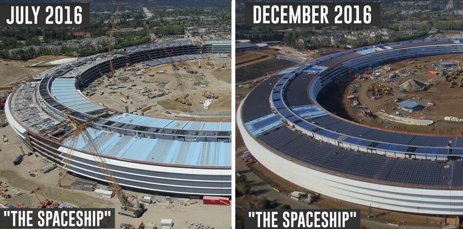 """历时六个月的摄影:看苹果新总部如何变化"""""""