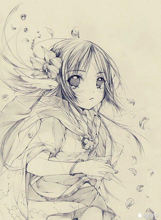 素描:二次元美少女!