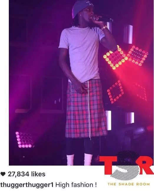 """这是怎么了 嘻哈硬像派Young Thug再穿出裙子时尚 """""""