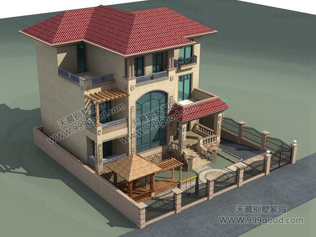 农村别墅设计图,院落车库符合农村气质!