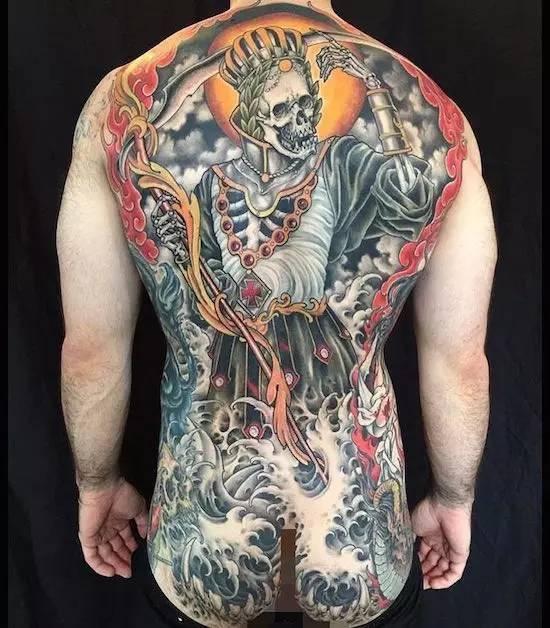 背部纹身欣赏