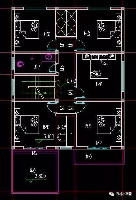三层农村欧式别墅设计图纸自建房9米x15米