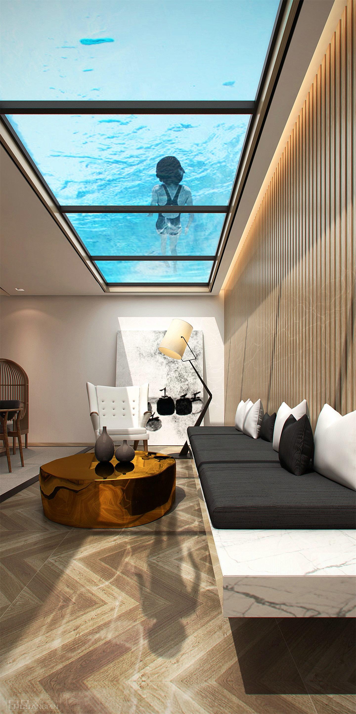 贵阳专业别墅装修,地下室上设计游泳池的装修深圳杨邦盛室内设计有限公司图片