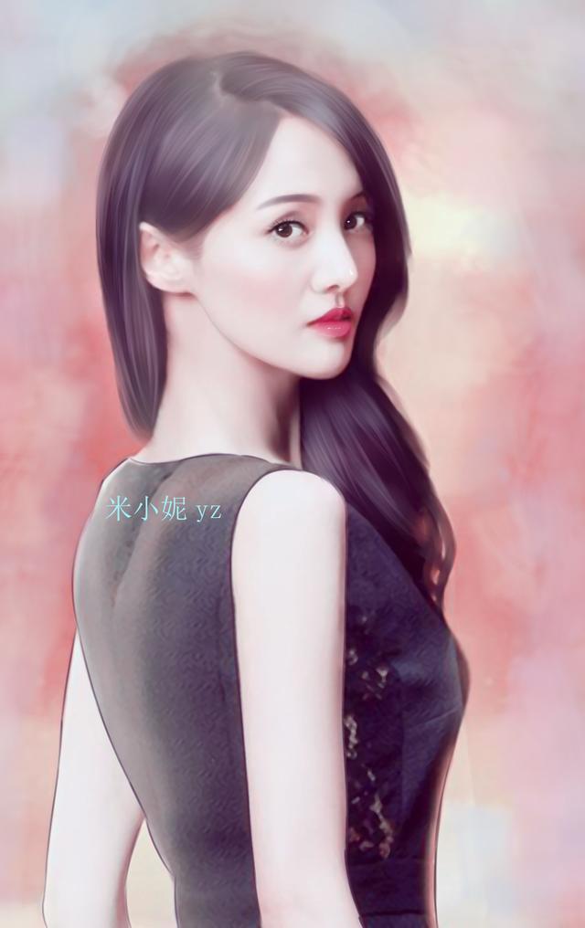 八位最惊艳的女星手绘图 刘亦菲第二 最美是她!