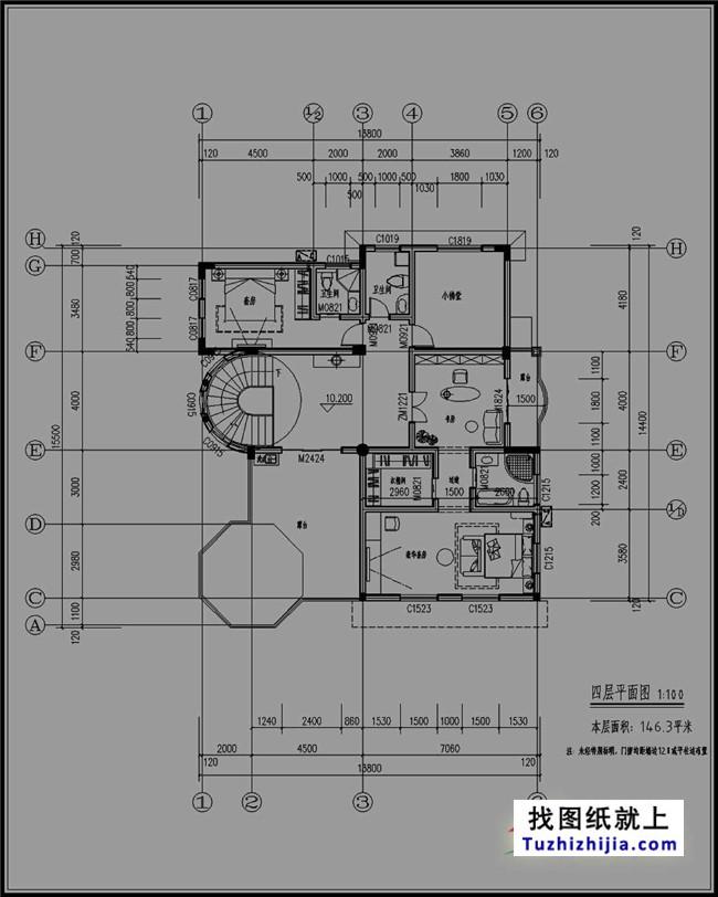 农村四层别墅设计图纸地中海风格