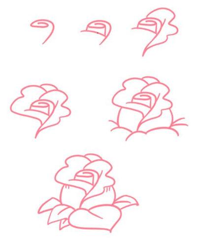 美甲的玫瑰花怎么画 美甲玫瑰花简单画法教学图片
