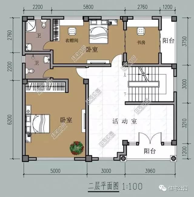 3套两层半农村别墅户型 你要堂屋车库还是挑空客厅