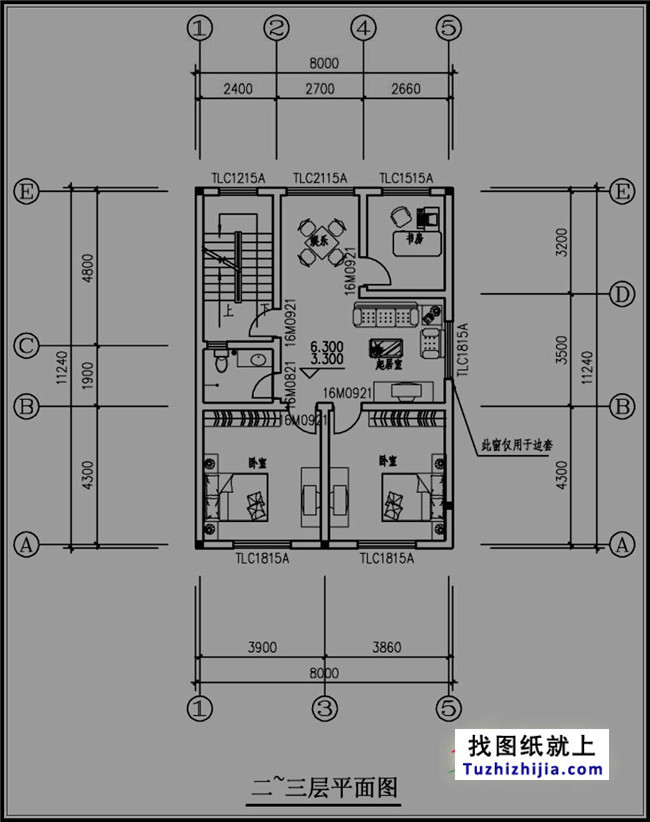 88平方米简单四层农村房屋设计图