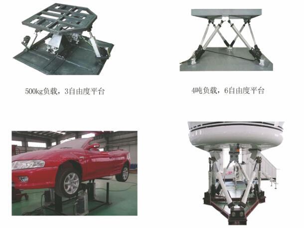 轮船六轴摇摆平台,汽车六轴同步升降平台方案图片