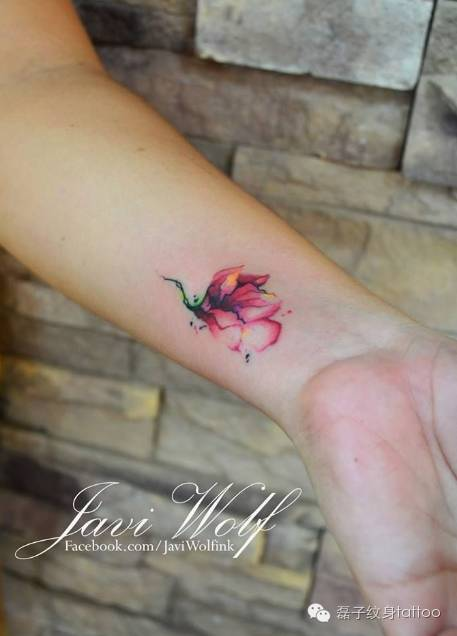 手腕内侧数字纹身分享展示图片