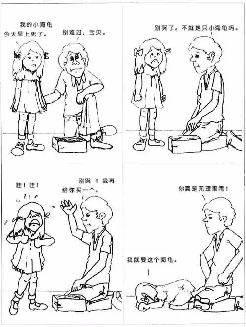孩子不愿和你沟通?,汗癣图片一组漫画告诉你亲子交流的4个技巧