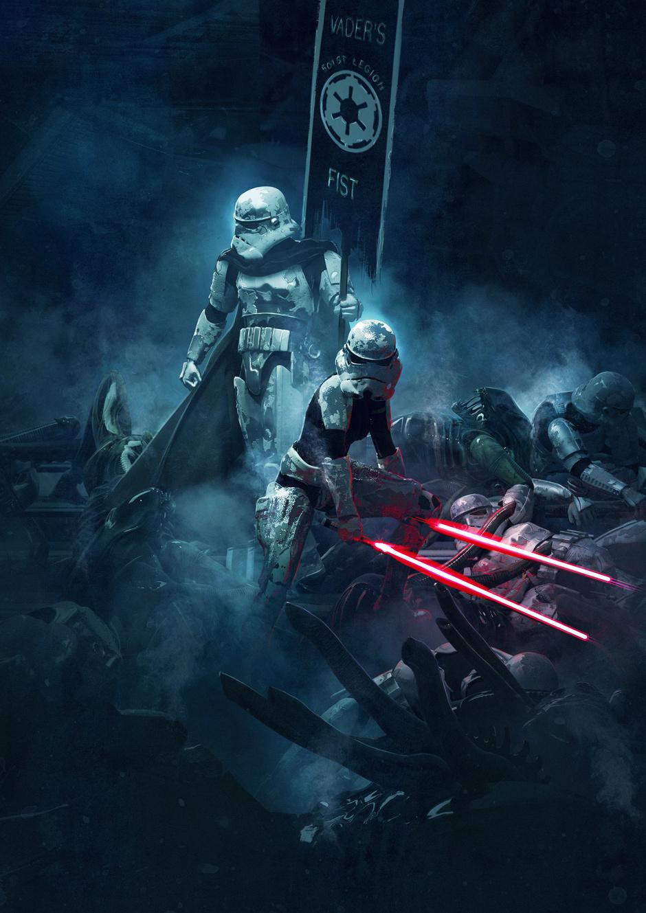 星球大战帝国进行曲谱子-星际大战粉丝一定要看 不一样的CG图片