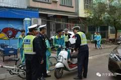 万宁交警大队开展学生交通安全整治 查扣59辆无证违法驾驶车辆