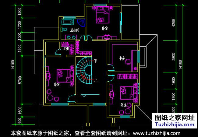 房产 正文  图纸目录:建筑设计说明,一层平面图,二层平面图,三层平面