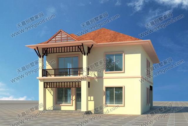 一层别墅设计图:客厅,车库,卫生间,老人房,餐厅,厨房,卧室 23万建好的图片
