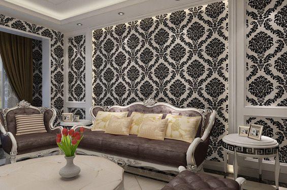 欧式窗帘壁纸搭配,你喜欢吗?