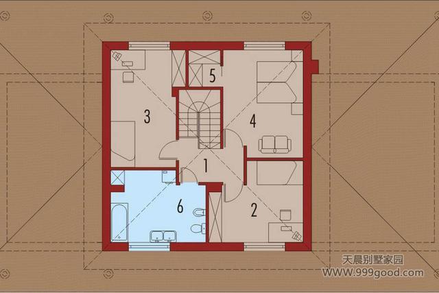 选择这样的一层小平房,更时尚经济,含平面设计图