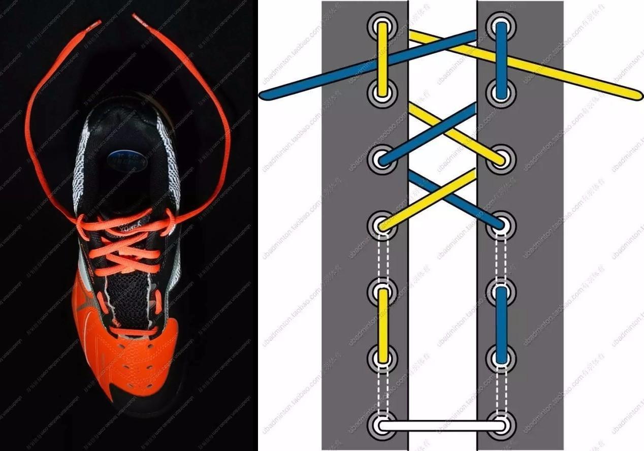 一鞋带方法图解步骤