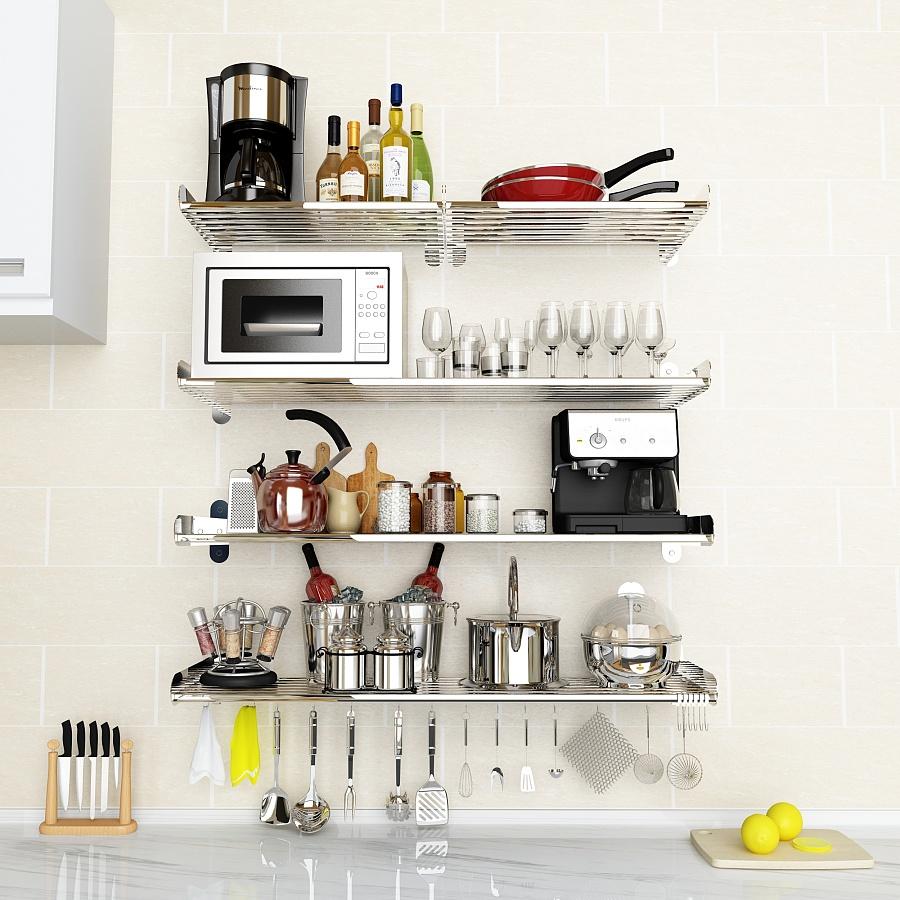 家庭多层厨房储物架