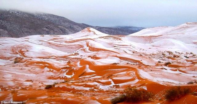 """撒哈拉沙漠居然下雪了!37年来首次"""""""