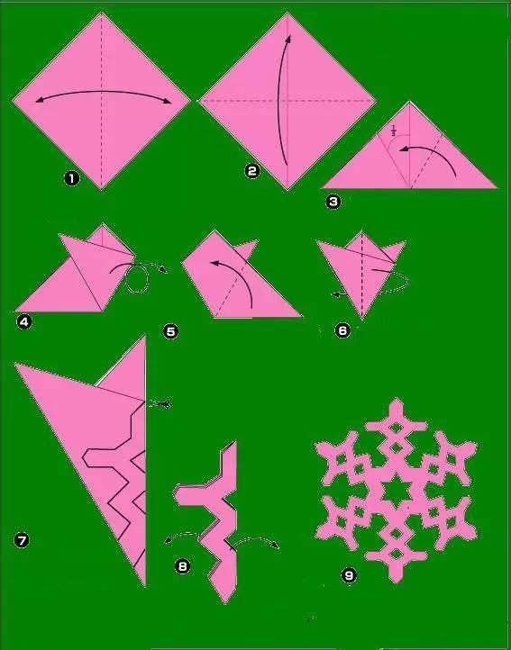 圣诞树折纸教程
