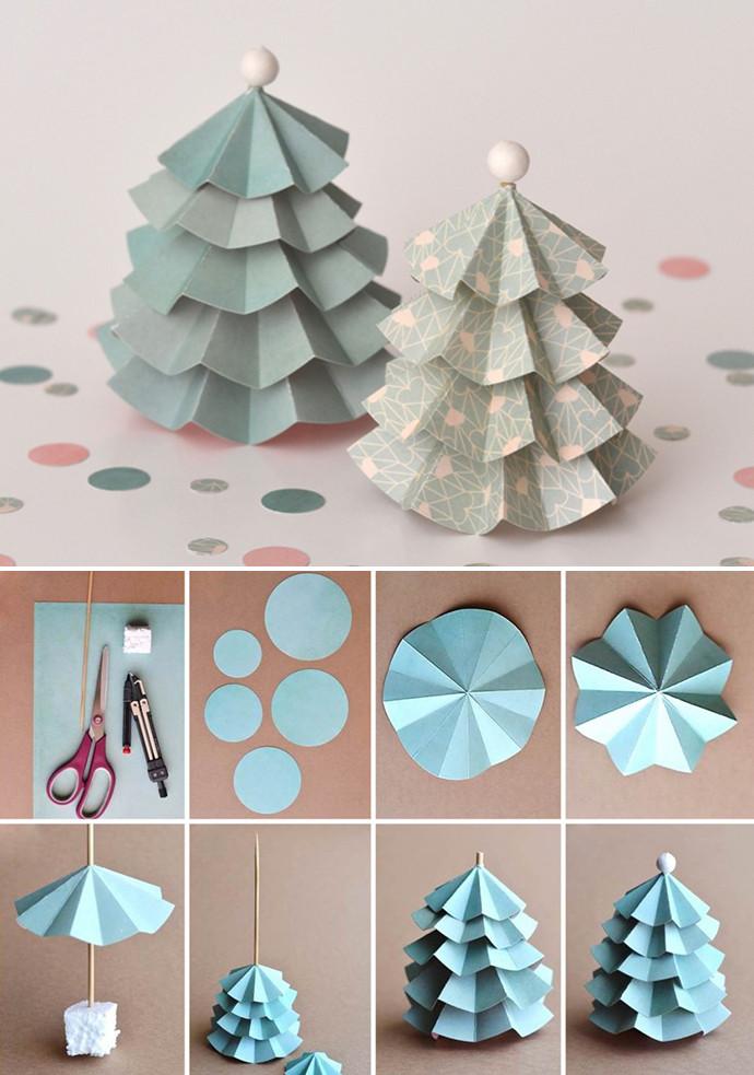 手工折纸圣诞树步骤图解