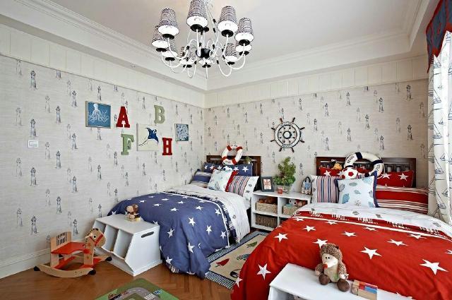 兄妹双人儿童房设计图 图片合集图片