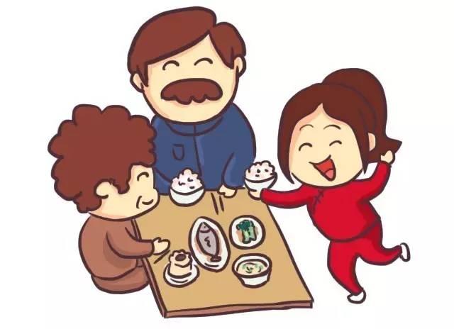 画一家人吃汤圆的图片-冬至丨诗雨淄博,守住一方温暖