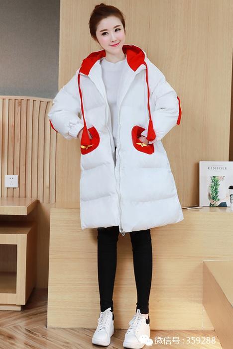 秋冬韩版新款轻薄羽绒服女连帽外套中长款面包服上衣外套学生学院图片