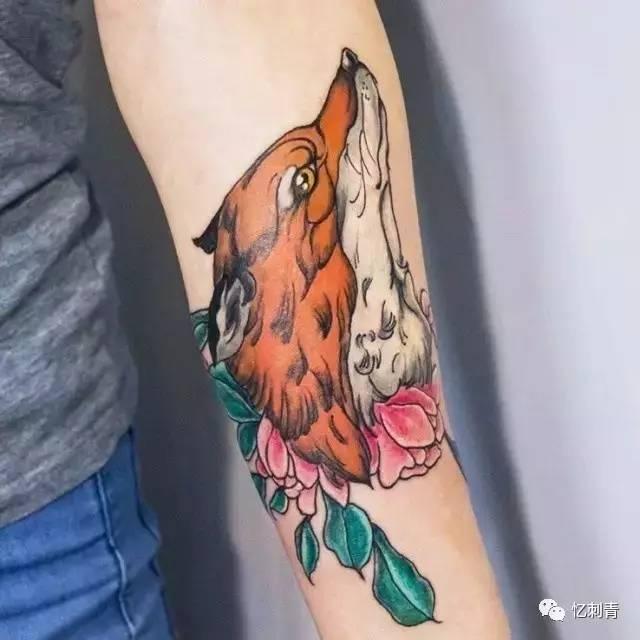 纹身素材:狐狸