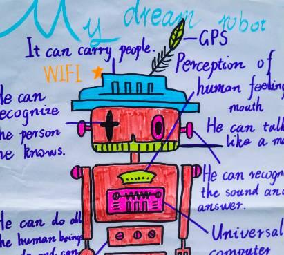 【头条新闻】八中的英语作业酷酷哒:机器人思维导图火爆出炉!图片