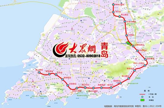 最新 明年青岛地铁2号线 11号线开通 是国内最快地铁 来看看路过你家图片