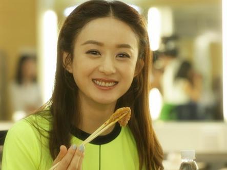 赵丽颖随便吃点东西,就能把人给看饿了图片