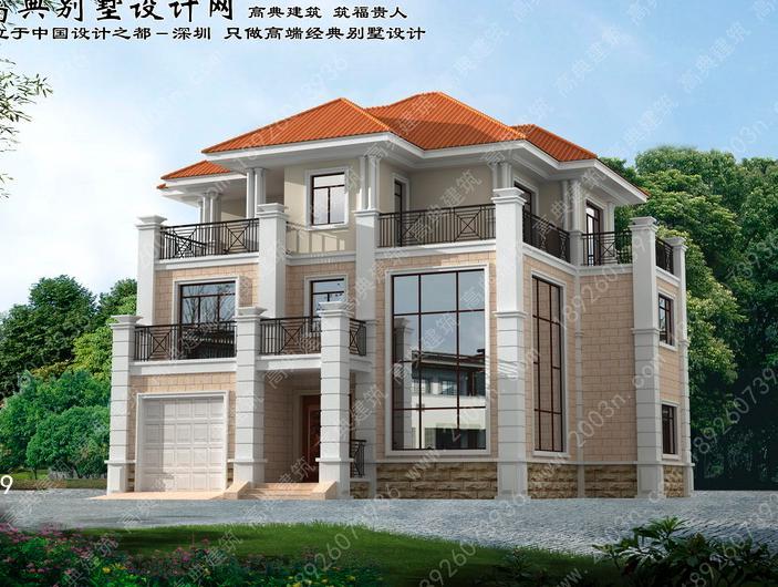 农村三层别墅设计图大全首层170平方米