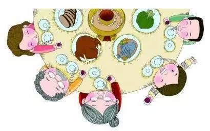 全家吃饭漫画-在广州不知道这些规矩,您就丢人现眼了