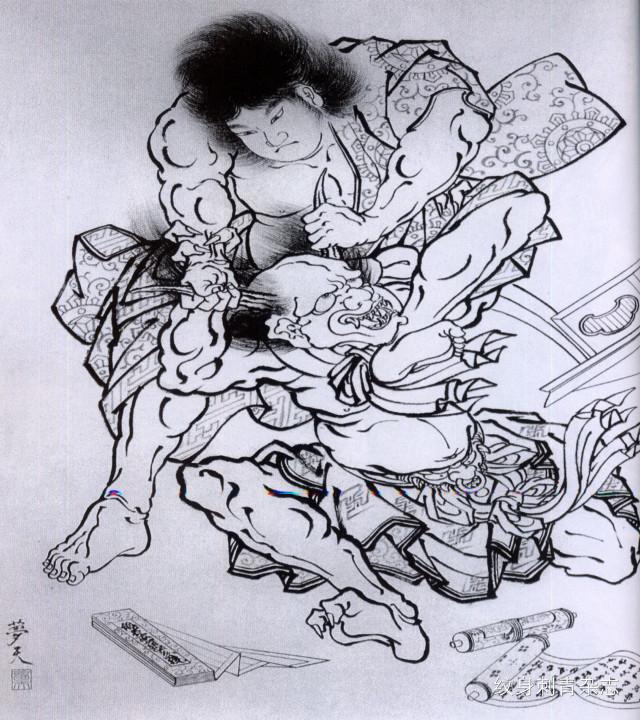 """纹身手稿——""""百鬼图""""纹身欣赏"""