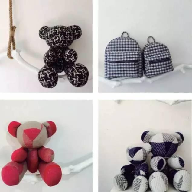 越看越喜欢的小熊布偶,纯手工制作,耿直的老板娘用的都是优质的材料.