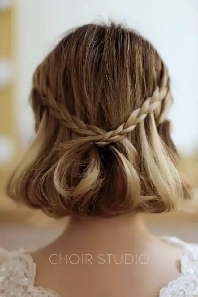 这些短发新娘造型,连背影都那么美!图片