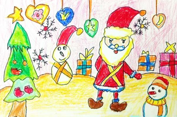 二年级圣诞节儿童画画图片图片