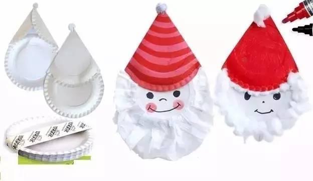 雪人和圣诞老人手工制作