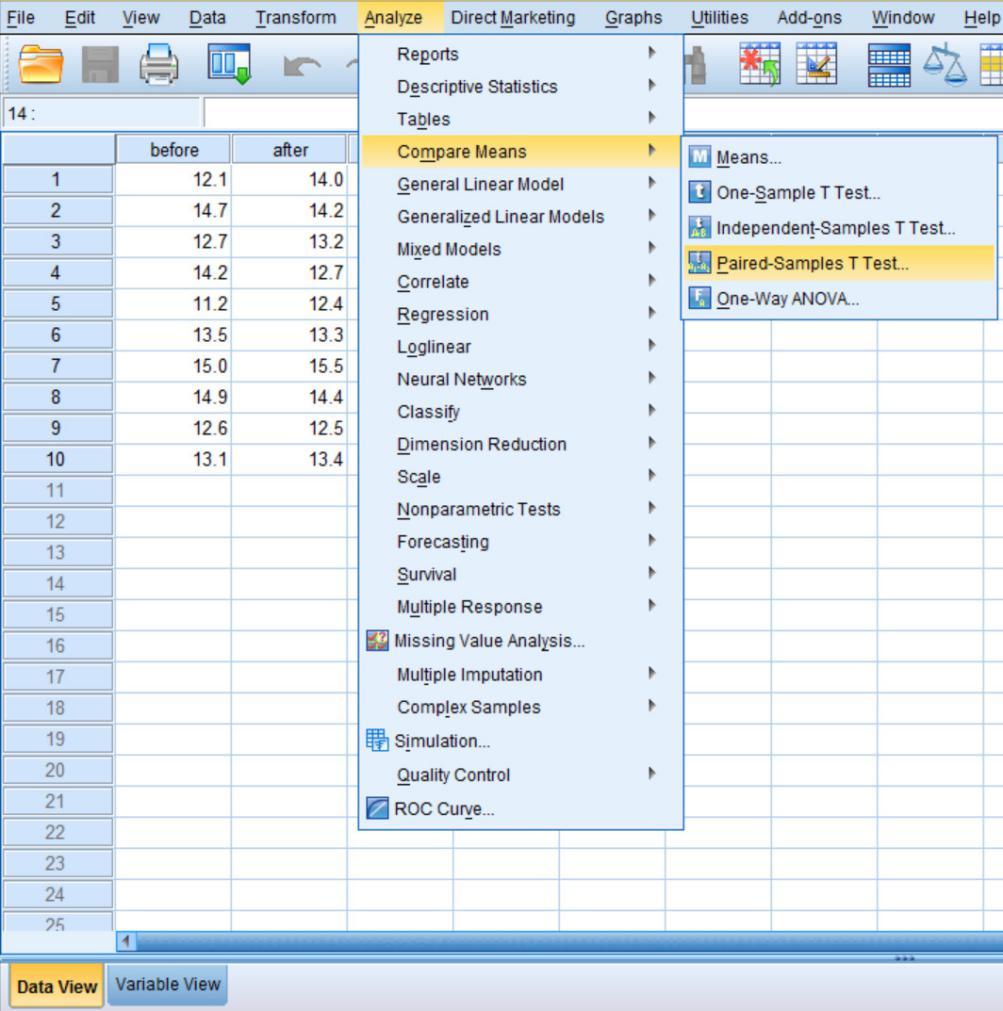 SPSS详细教程 配对样本的t检验
