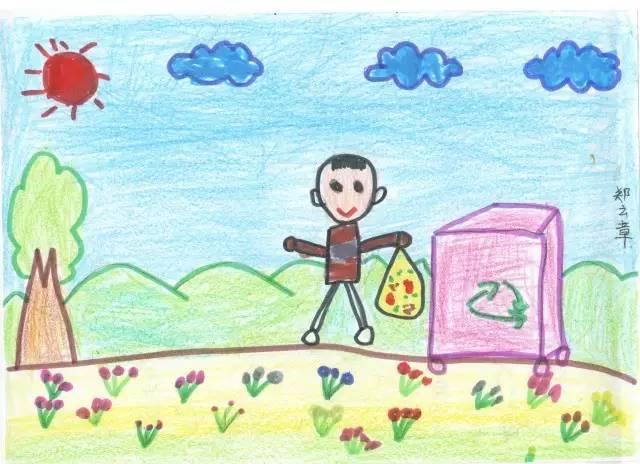 晒孩子画画成就的说说 朋友圈晒孩子说说大全 赞美小朋友画画的句子图片