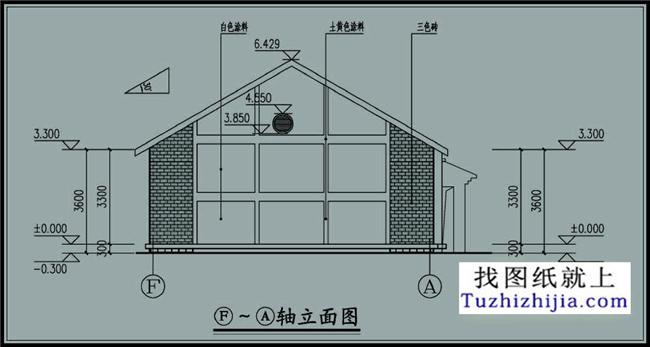 一层120平米平房别墅设计cad图纸