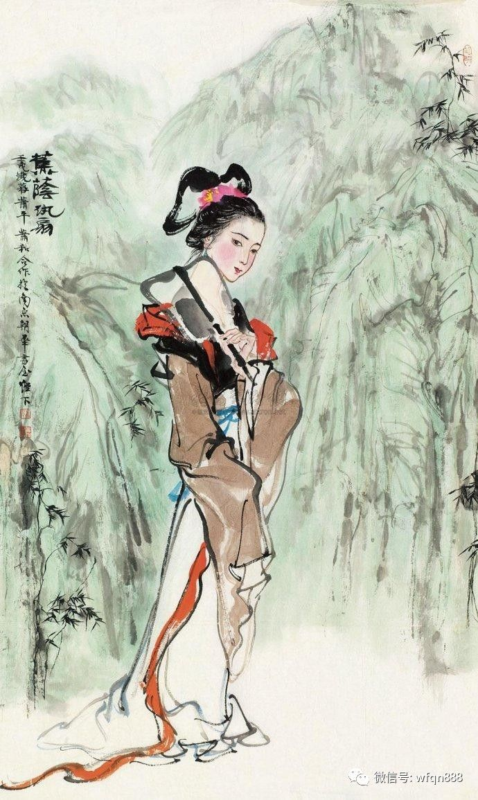 秦淮女子手绘图