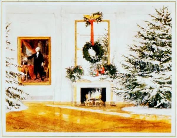 """这些年,白宫总统们送出的圣诞贺卡!"""""""